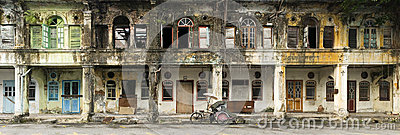 Derelict Heritage Houses, George Town, Penang, Malaysia