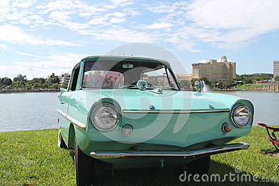 Old Amphicar at the car show