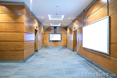 Elevator hall in business center