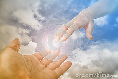 God Hand reaching for the faithful