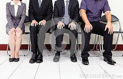 People waiting for job interview