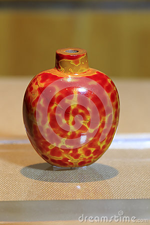 Jade red snuff bottle
