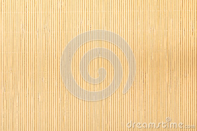 Close up beige brown bamboo mat striped background texture pattern