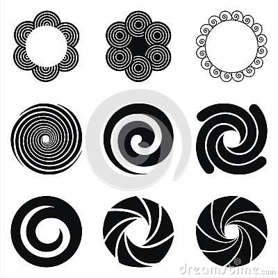Circle ornament, frames and pattern