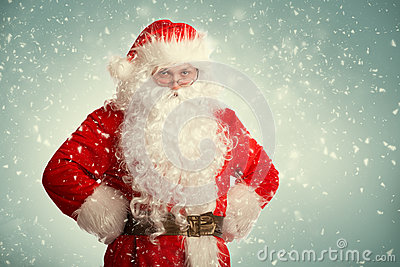 Santa Claus standing in a snow