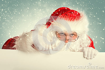 Santa Claus in a snow