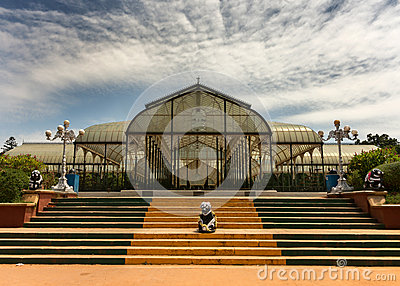 Glass house at Lal Bagh Botanical Garden in Bengaluru.