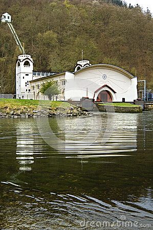 Hydroelectric power station, natural reserve Eifel
