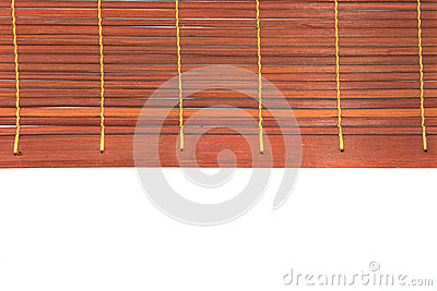 Woven bamboo red