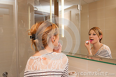 Girl Putting Makeup