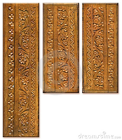 Wood Carving Pattern Design Elements