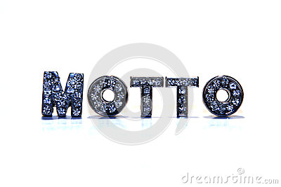 Word MOTTO on white background