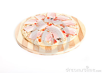 Uncooked pizza