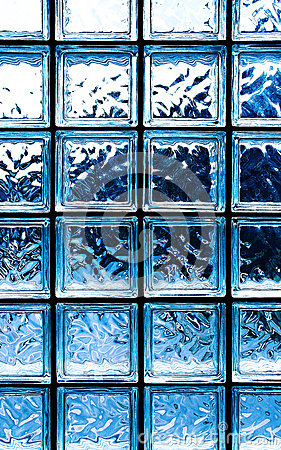 Blue glass squares texture