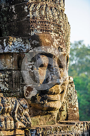 Stone faces at the bayon temple in siem reap,cambodia 11