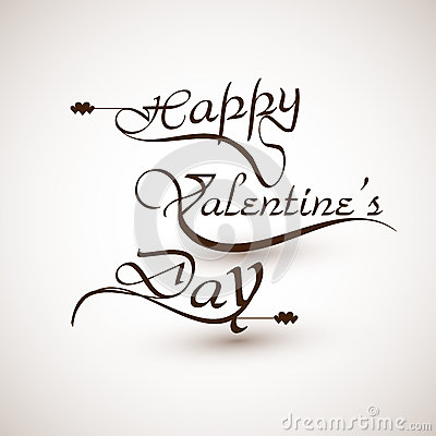 Happy valentines day calligraphic font design