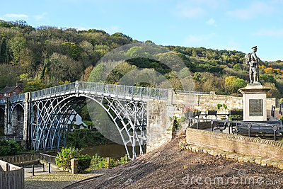 Ironbridge in Shropshire, UK
