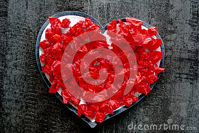 Valentine day red heart love romance passion