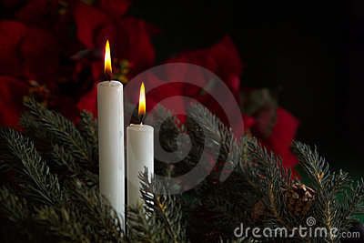 2 Advent Candles