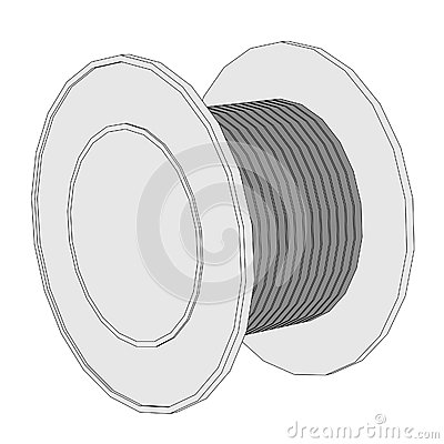 Outstanding Wire Reel Clip Art Embellishment - Electrical Diagram ...