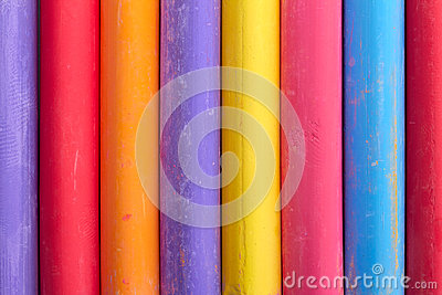 Color chalk abstract composition upright