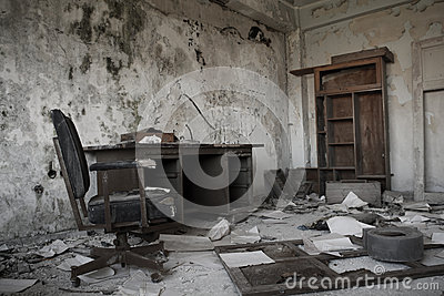 Old abandoned office