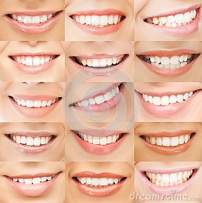 Examples of female smiles