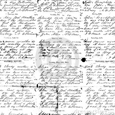 Black and white antique script handwriting background