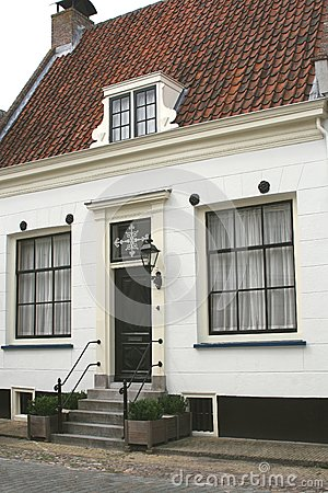 Characteristic Dutch medieval house,Netherlands