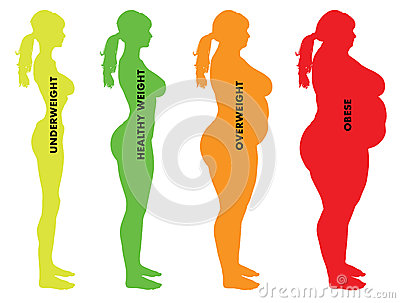 Woman Body Mass Index BMI categories
