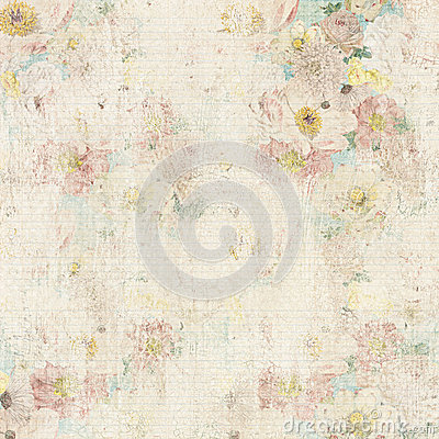 Grungy vintage floral background