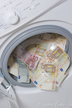 Money laundering. Money cleaning concept