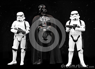 Darth Vadder and Stormtroopers Star Wars