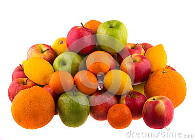 Oranges and lemons, red and green apples