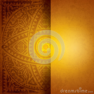 Yellow African background design.