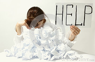 stock image of help me