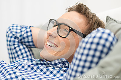 Man With Eyeglasses Contemplating