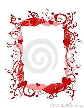 Abstract Valentine Hearts Frame Or Border