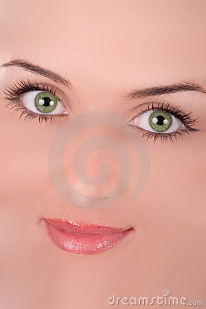 Abstract young woman face