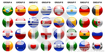 Flags world cup 2014