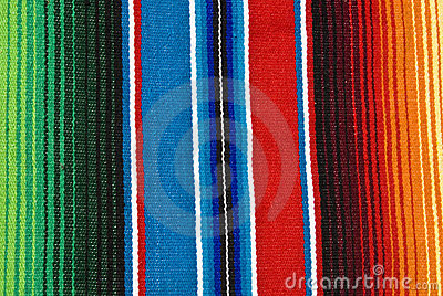 Colorful Mexican table cloth