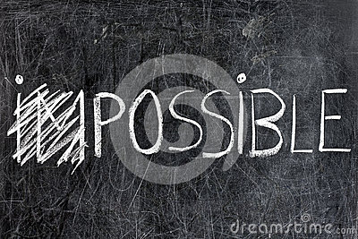 Impossible Becomes Possible on Chalkboard