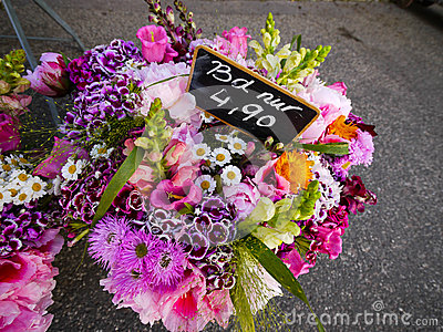 Flower bunches in floristry