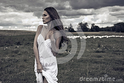 Woman on meadow