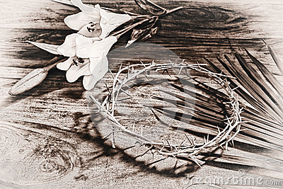 Sepia Toned Easter Icons