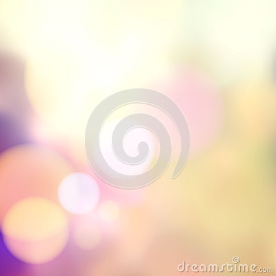 Vector blurry soft background with photographic bokeh effect. Smooth unfocused film effect. Pale romantic pink and purple tones. R