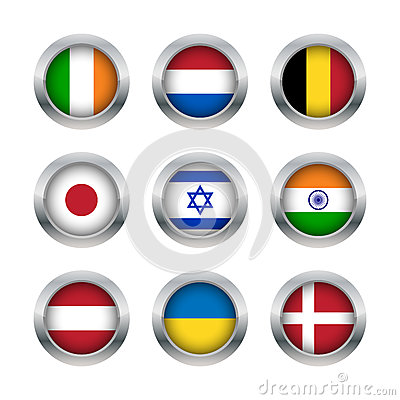 Flag buttons set 2