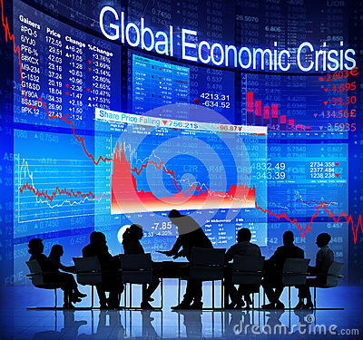 Business People Facing Global Economic Crisis