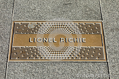 Lionel Richie Plaque
