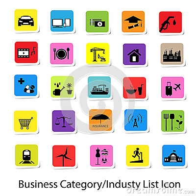 Colorful Business Category and Industry List Icon